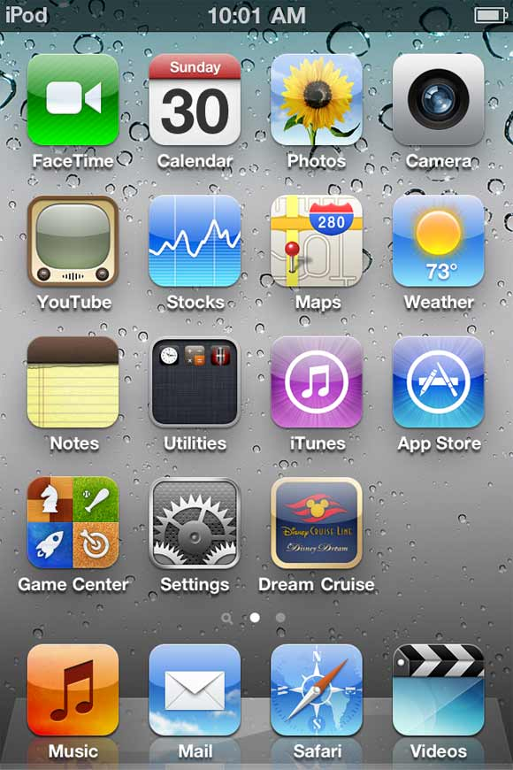 Home screen with Dream Cruise app icon